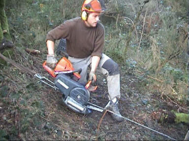 treuil forestier pour tronconneuse